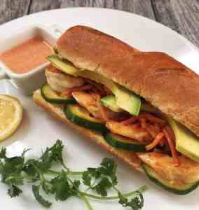 Shrimp Sandwich with Carrot Pickle