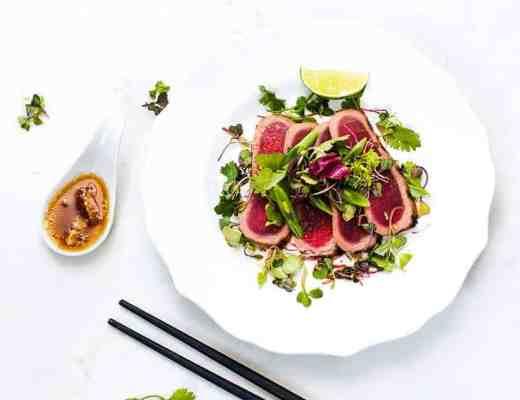 Ahi Tuna Salad with Citrus Dressing