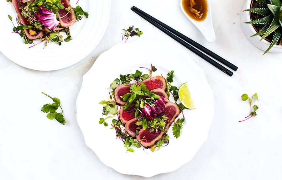 Ahi Tuna Salad with Citrus Dressing