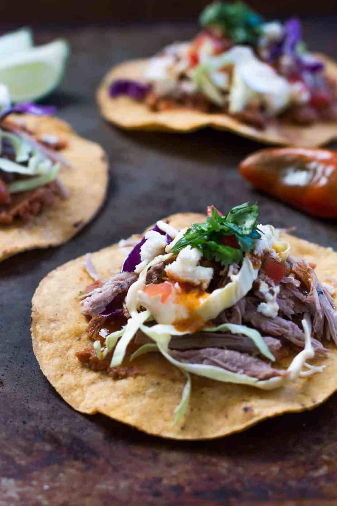 Tostada Recipe with Pork Carnitas