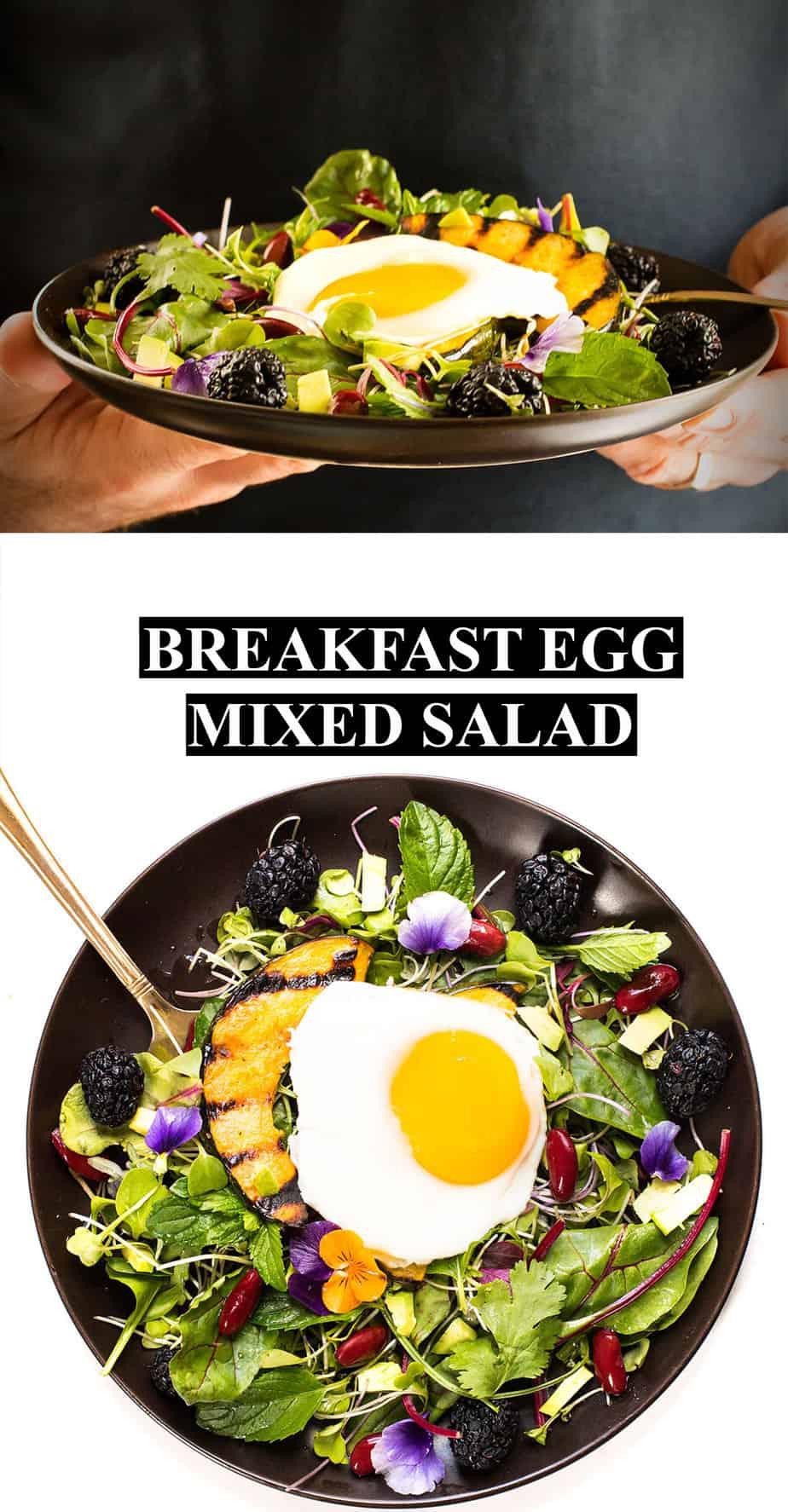 breakfast-egg-mixed-green-salad