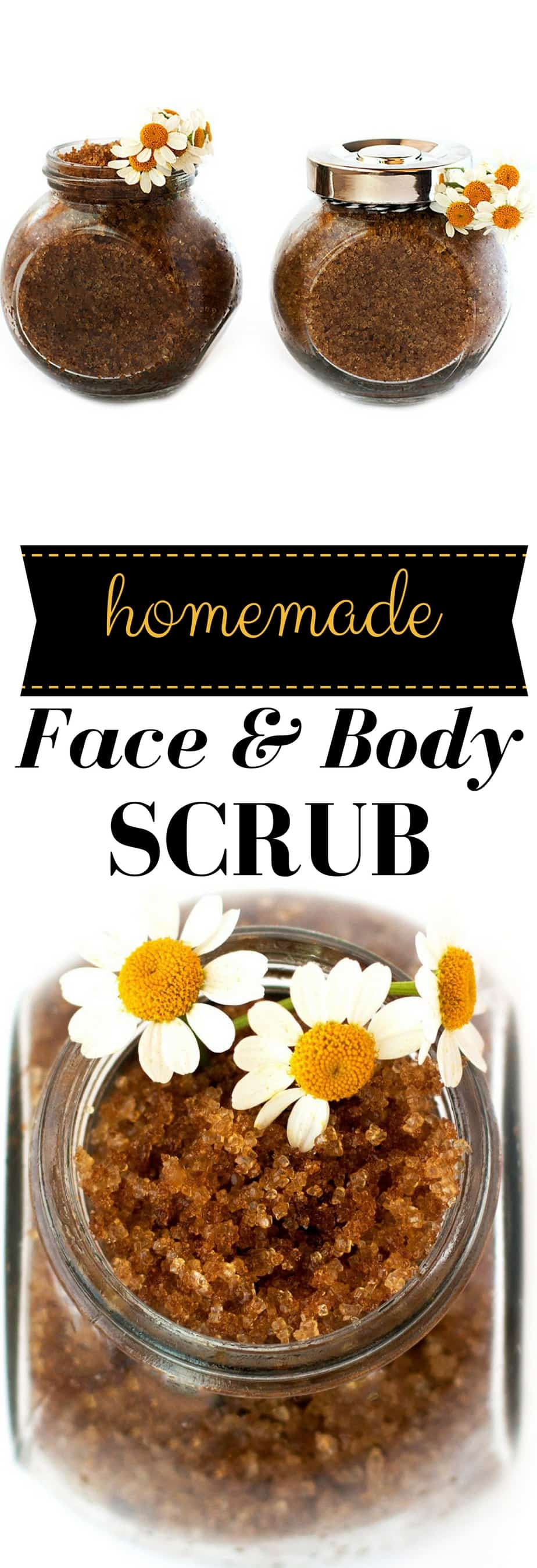 homemade facial scrub tutorial. This facial and body scrub contains all natural ingredients to help rejuvenate and exfoliate skin