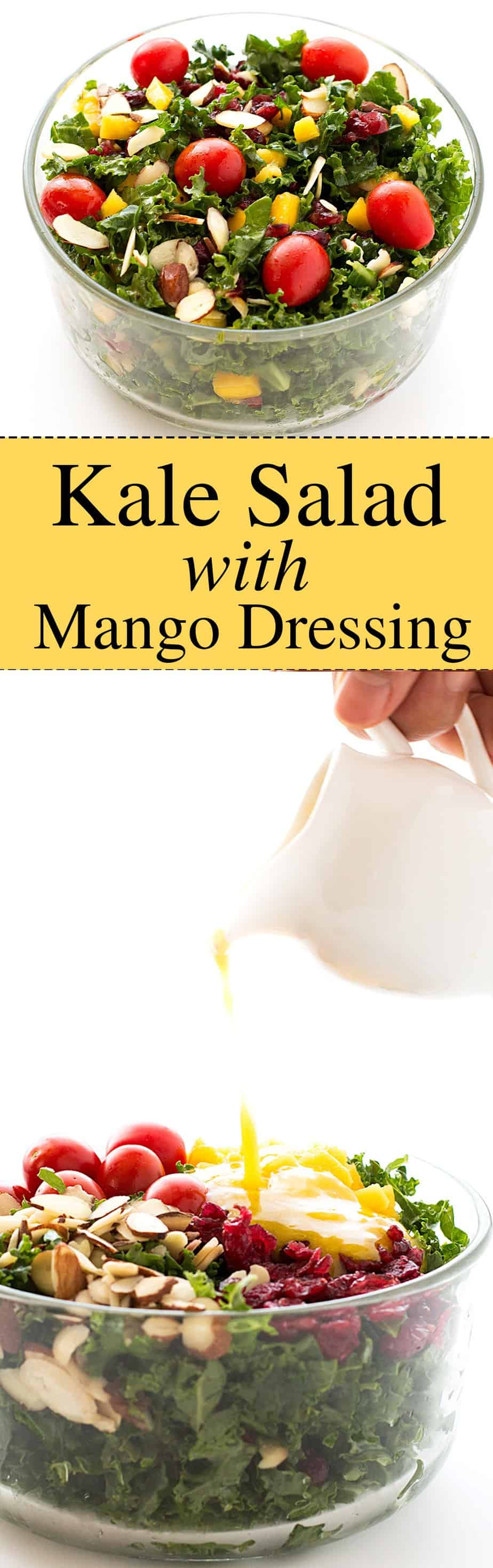 kale salad recipe with homemade mango dressing,. Superfoods salad with no sugar added salad dressing. Tangy and Sweet. Easy salad recipe that can be ready within 10 minutes.