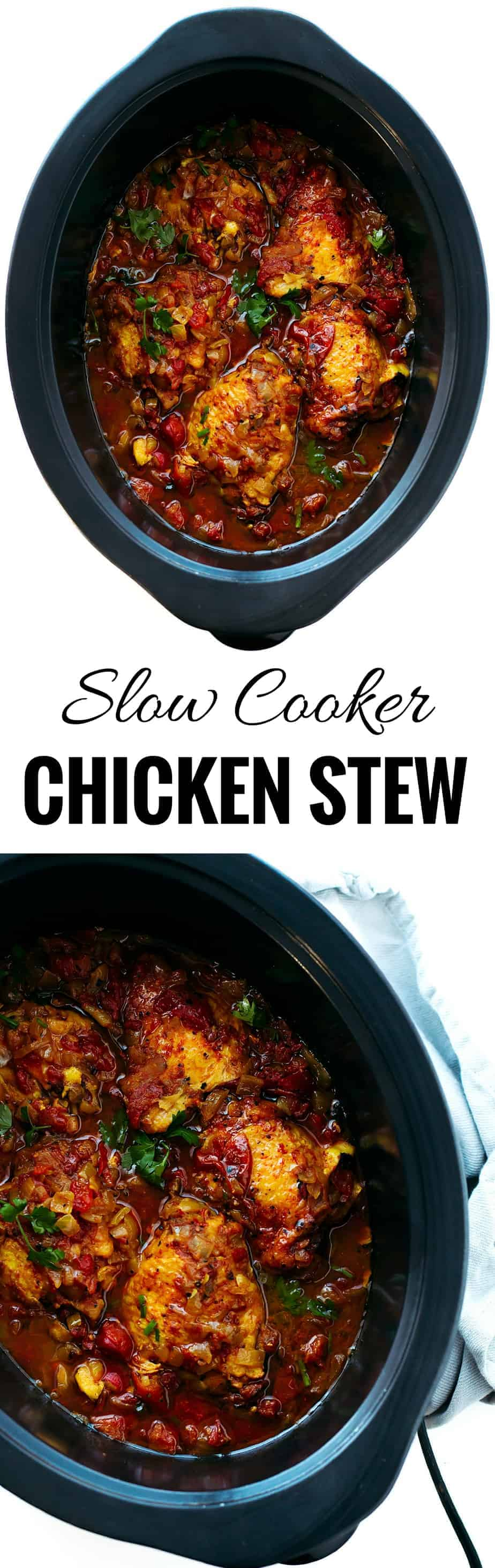 Slow Cooker Chicken Stew - So Flavorful and Tender! - Posh Journal