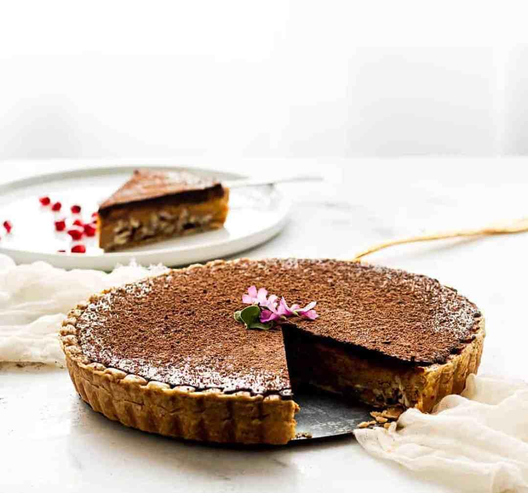 pumpkin pie recipe pecan a chocolate topping