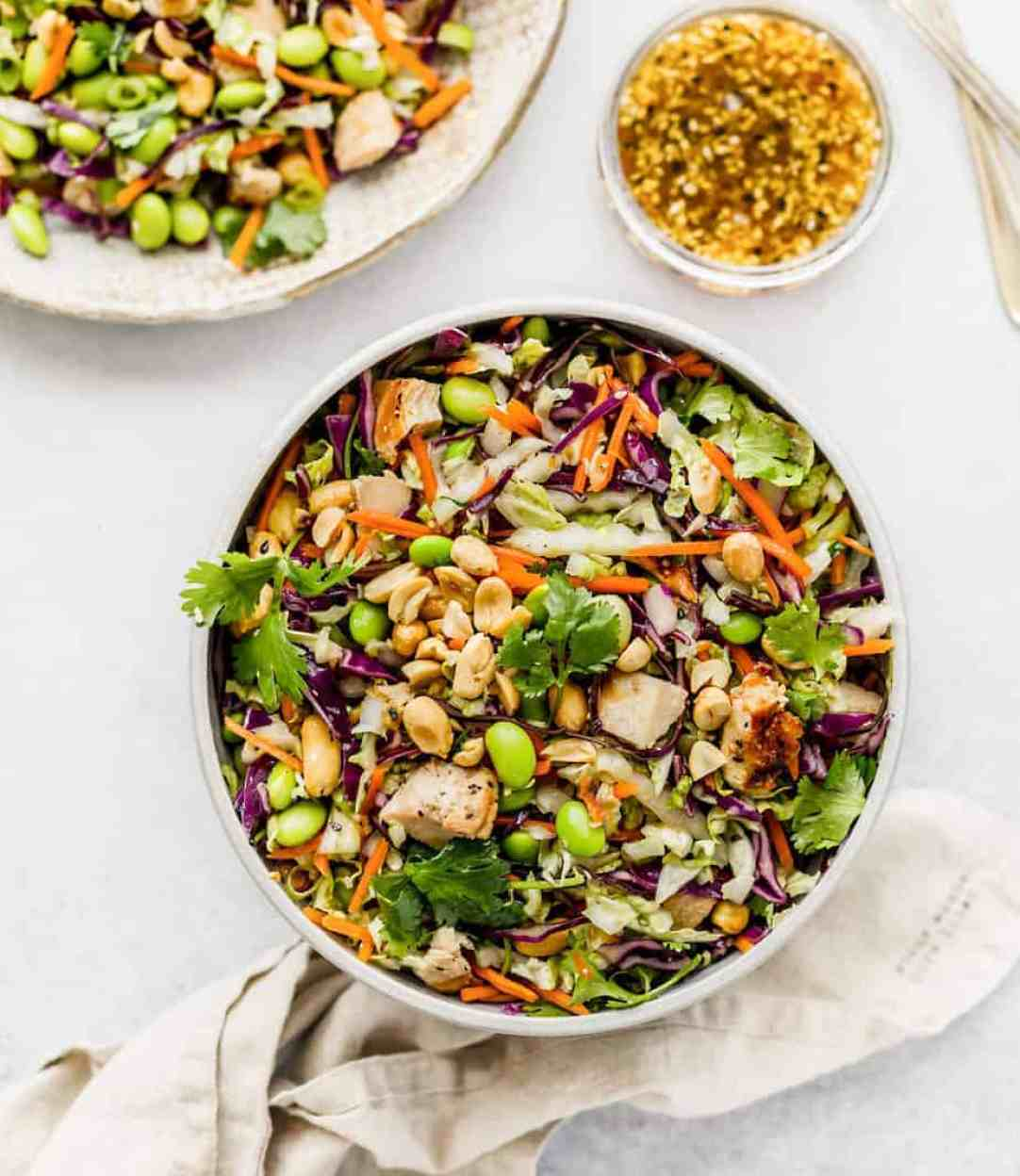 asian chopped salad sesame ginger dressing recipe lunch ideas