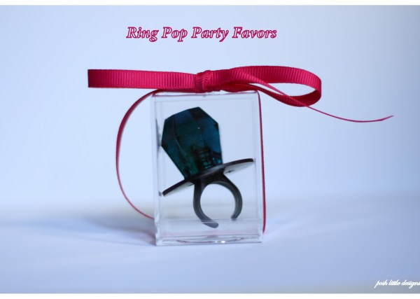 DIY~ Ring Pop Party Favors