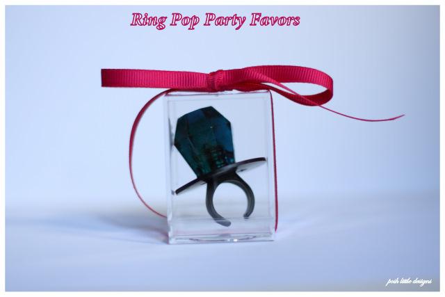 DIY Ring Pop Party Favors Posh Little Designs