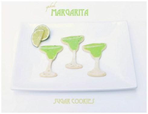 spiked margarita sugar cookies