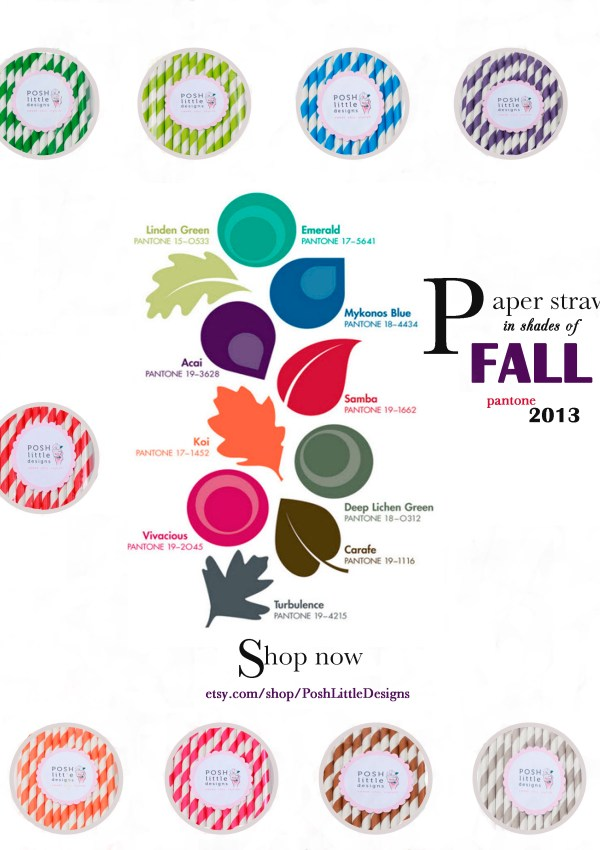 Trends: Pantone + Paper Straws