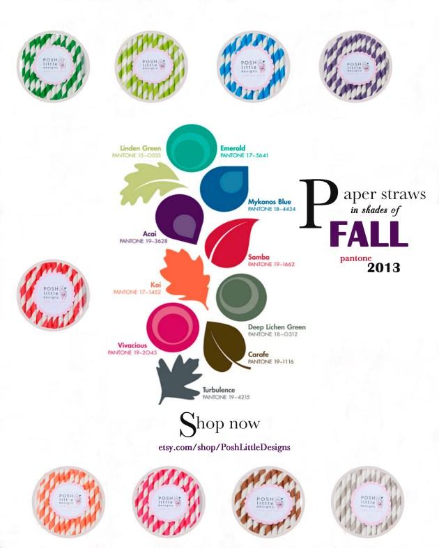 Pantone Color trends - + Paper Straws - Posh Little Designs