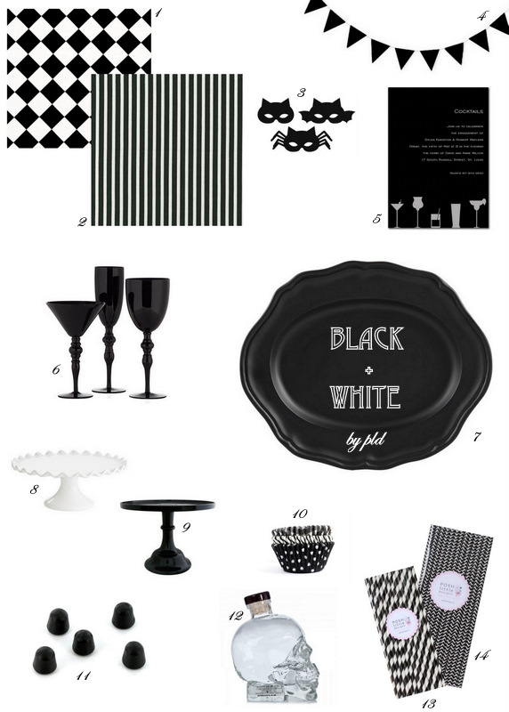 Black + White Halloween