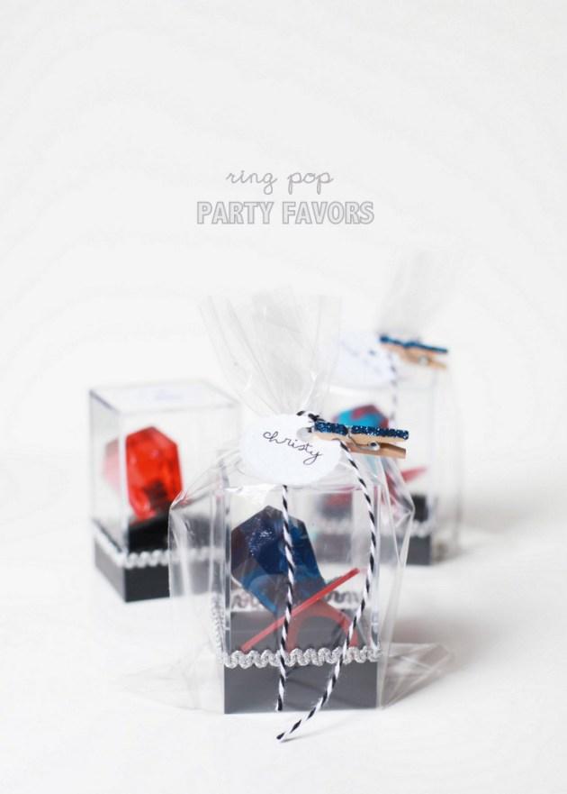 DIY ring pop party favors | Posh Little Designs