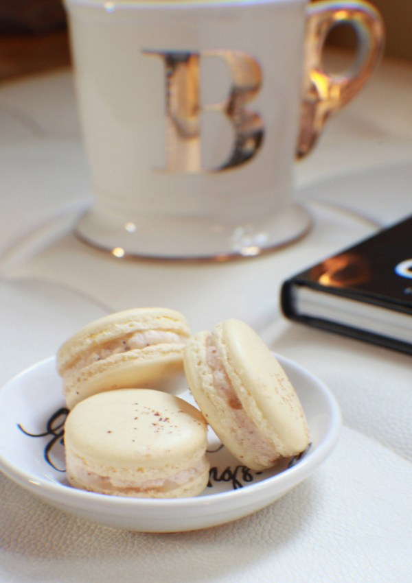 Eggnog French Macarons