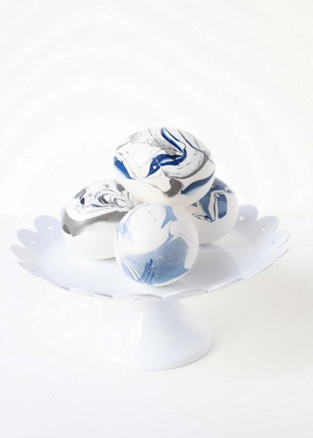 DIY Marble Eggs | Posh Little Designs
