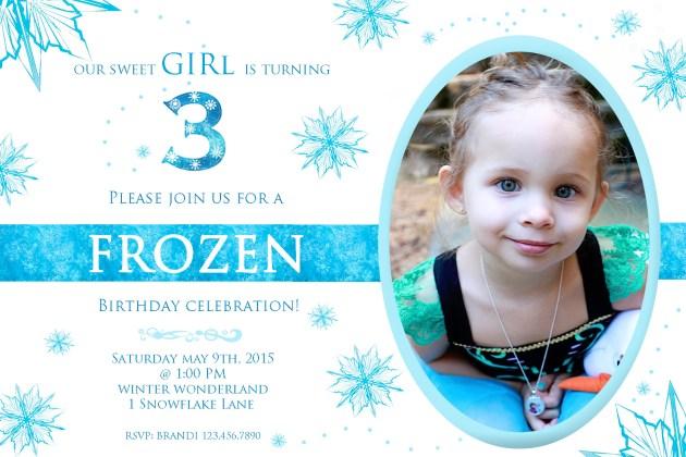 Frozen Invitations | Posh Little Designs
