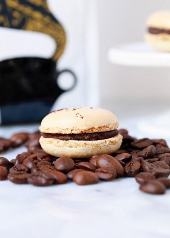 Chocolate Santa Marta Macarons   Posh Little Designs
