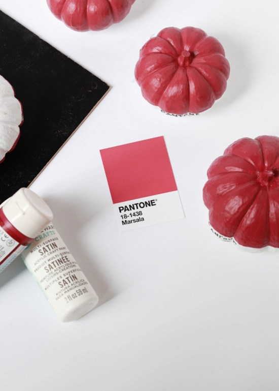 Pantone Mini Pumpkins DIY   Posh Little Designs