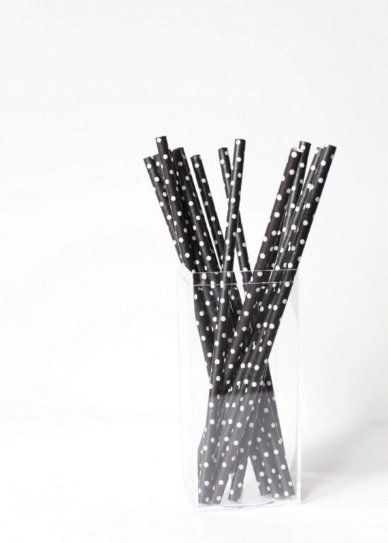B&W Patch Paper Straws | Posh Little Designs