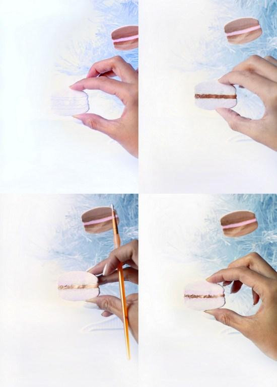 DIY Macaron Ornaments | Posh Little Designs