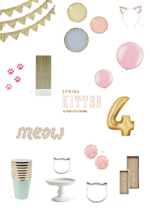 Spring Kitten Party Inspiration