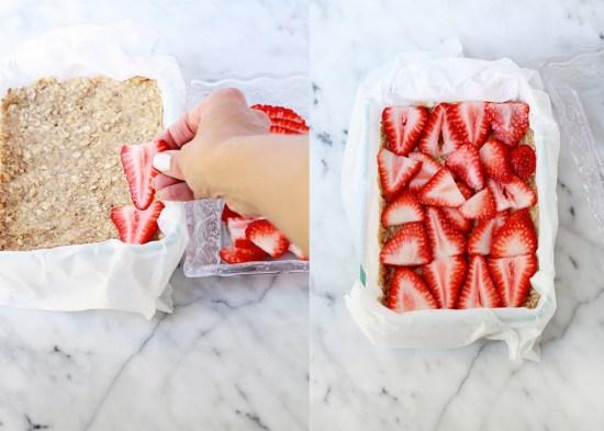 Strawberry Rhubarb Ice Cream Bars