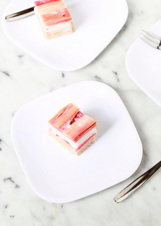 Strawberry Rhubarb Ice Cream Bars | Posh Little Designs