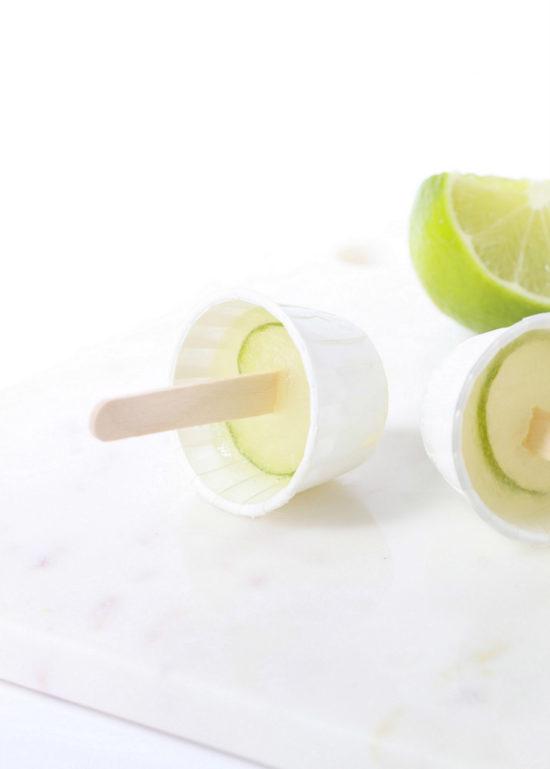 Cucumber Margarita Popsicles | Posh Little Designs