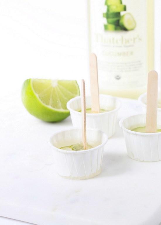 Cucumber Margarita Popsicles   Posh Little Designs