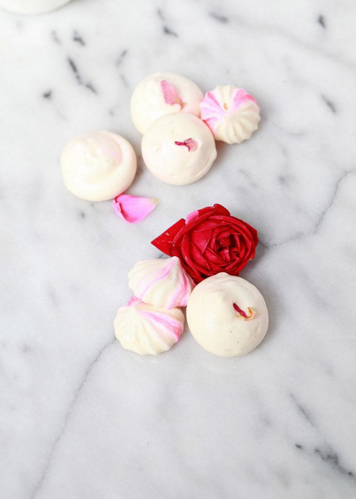 Edible Rose & Vanilla Bean Meringue Kisses