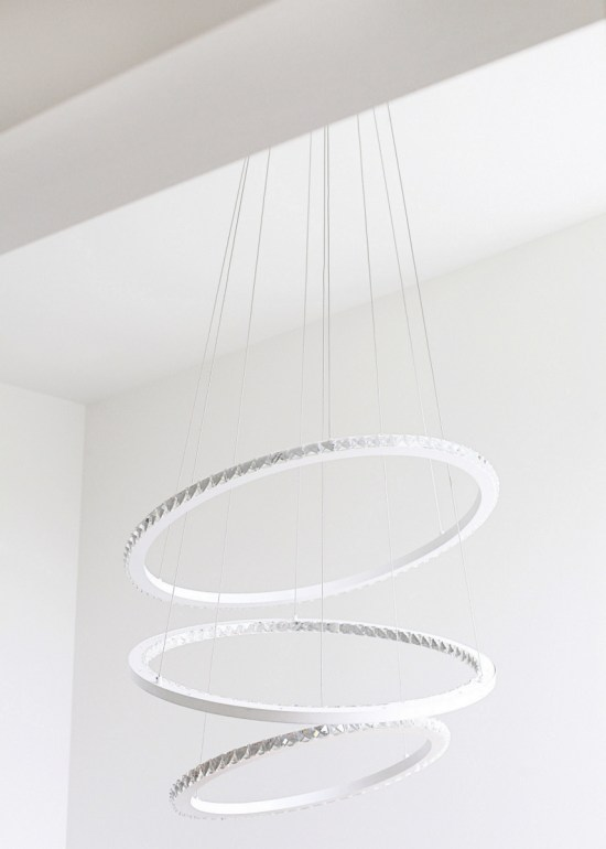 modern 3 light chandelier