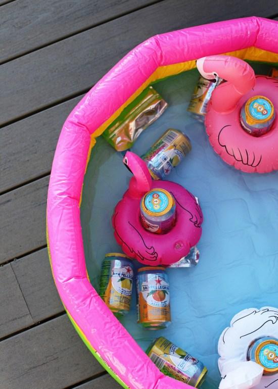 flamingo kiddie pool float