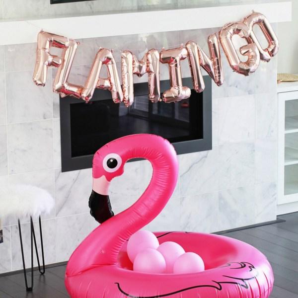 flamingo birthday float