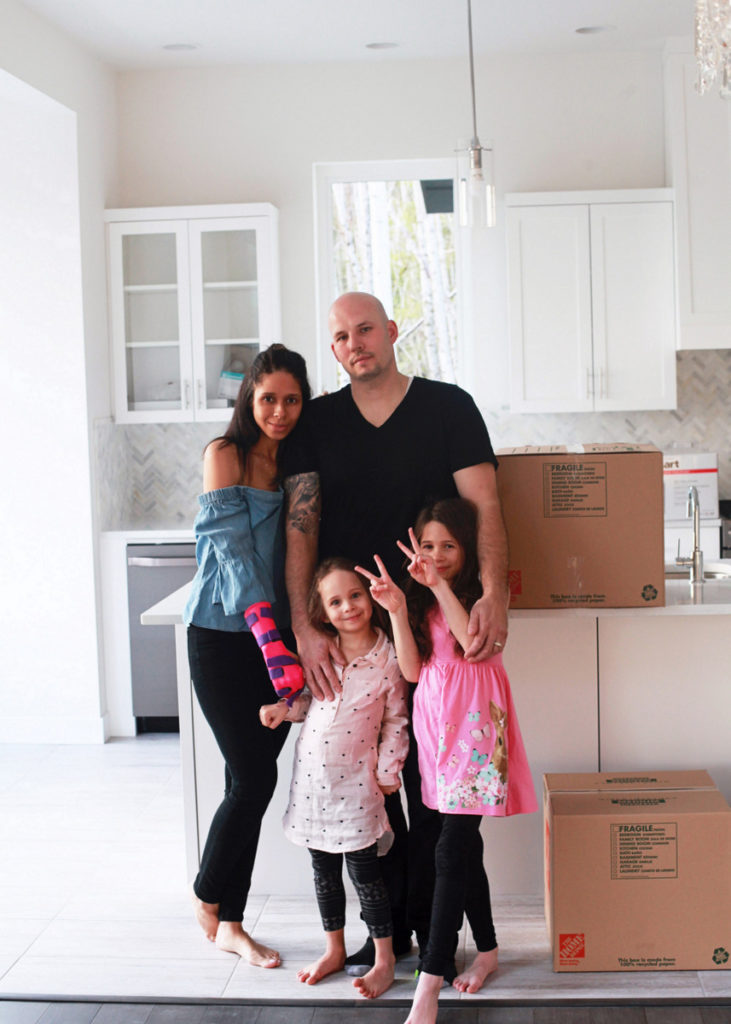family, new home, construction