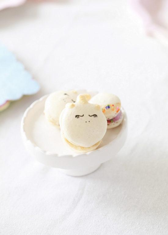 Unicorn Birthday, Party, Macarons