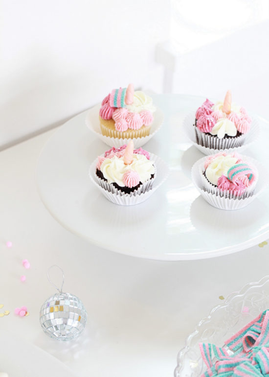 Unicorn Birthday, Party, Cupcakes