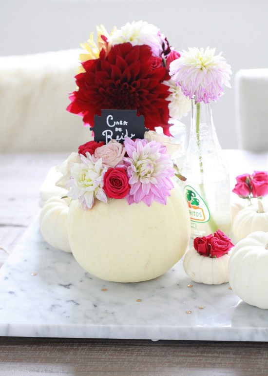 Pumpkin Decor, Dahlias, Party
