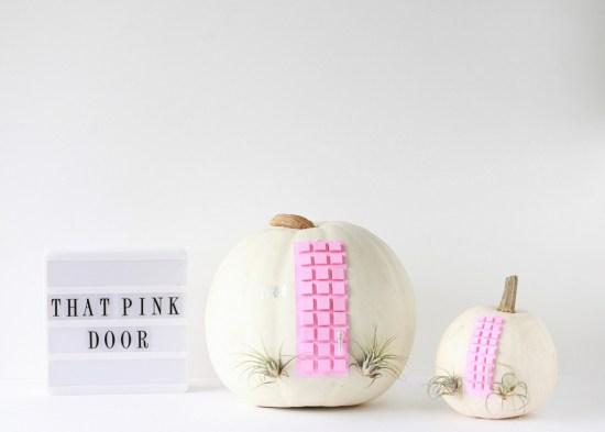 Fall, Pumpkin Crafts, Pink Door
