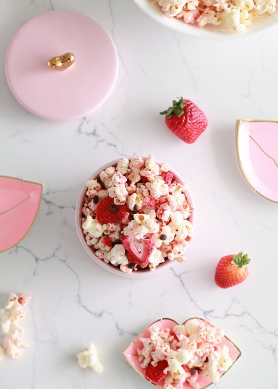 Valentine's Day, Chocolate Strawberry, Popcorn, Vegan