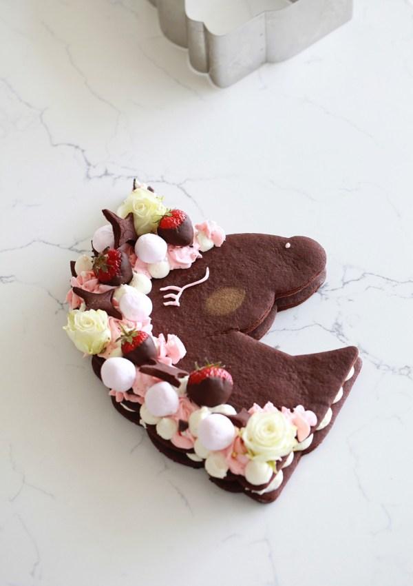 Unicorn Cookie Cake