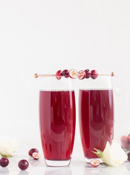 Cranberry Kir Royale | Posh Little Designs