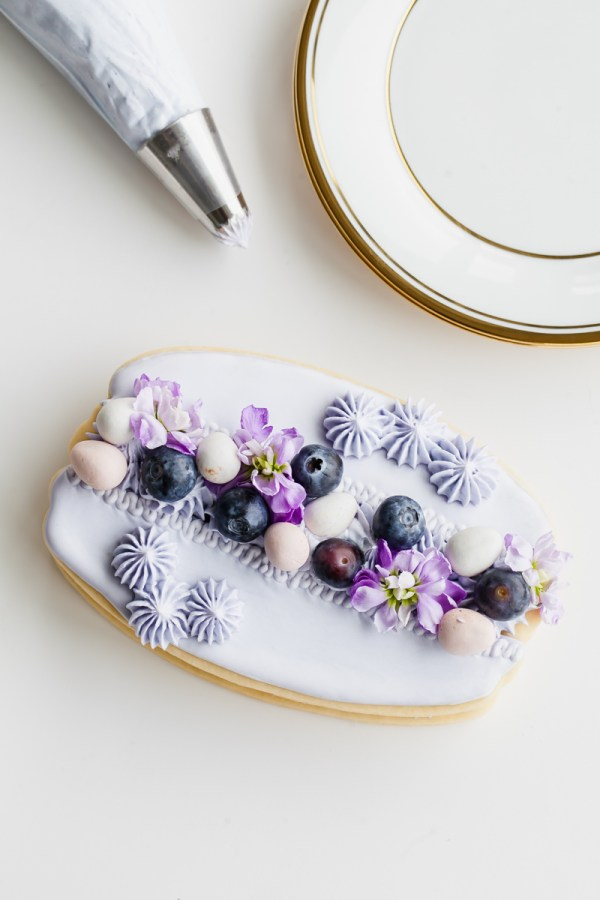 Easy Macaron Sugar Cookie Cake-Cream Tart-Blueberry