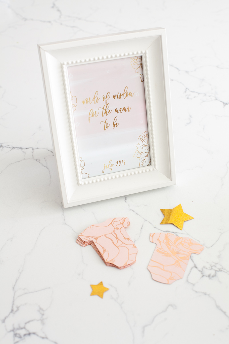 Pink Gold Baby Shower - Baby Girl - Decor - Elegant