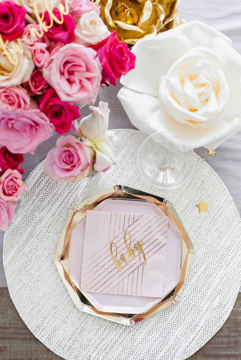 Pink Gold - Roses- Party Decor