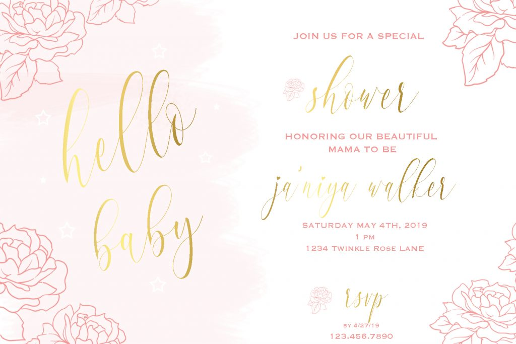 Baby Shower Invitation | Posh Little Designs
