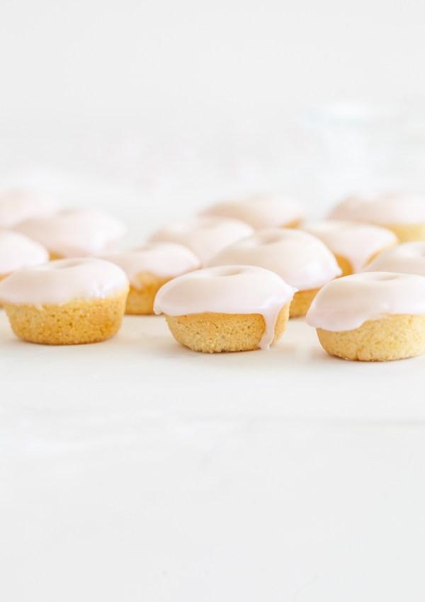 Rosé Glazed Mini Donuts