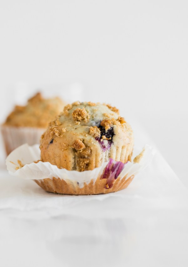 Dairy Free Blueberry Streusel Muffins