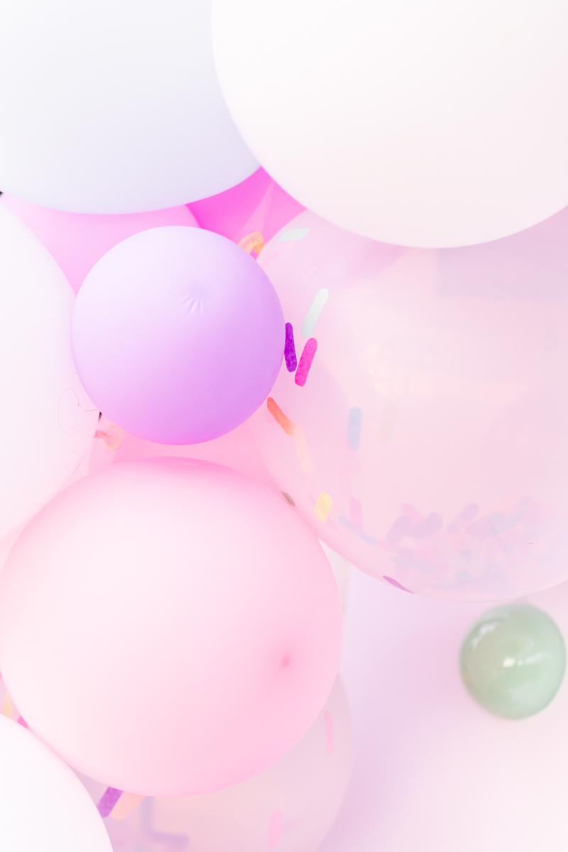 pastel balloon garland - posh little designs