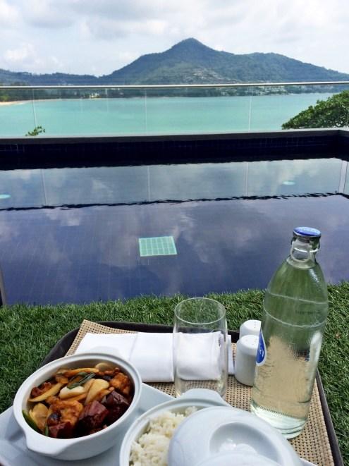 Lunch on my private pool at Novotel Kamala Beach - Phuket