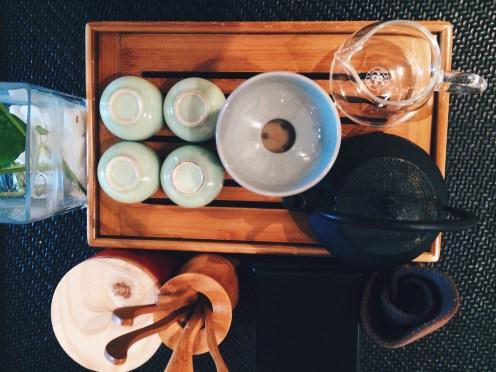 Tea's ceremony arrangement